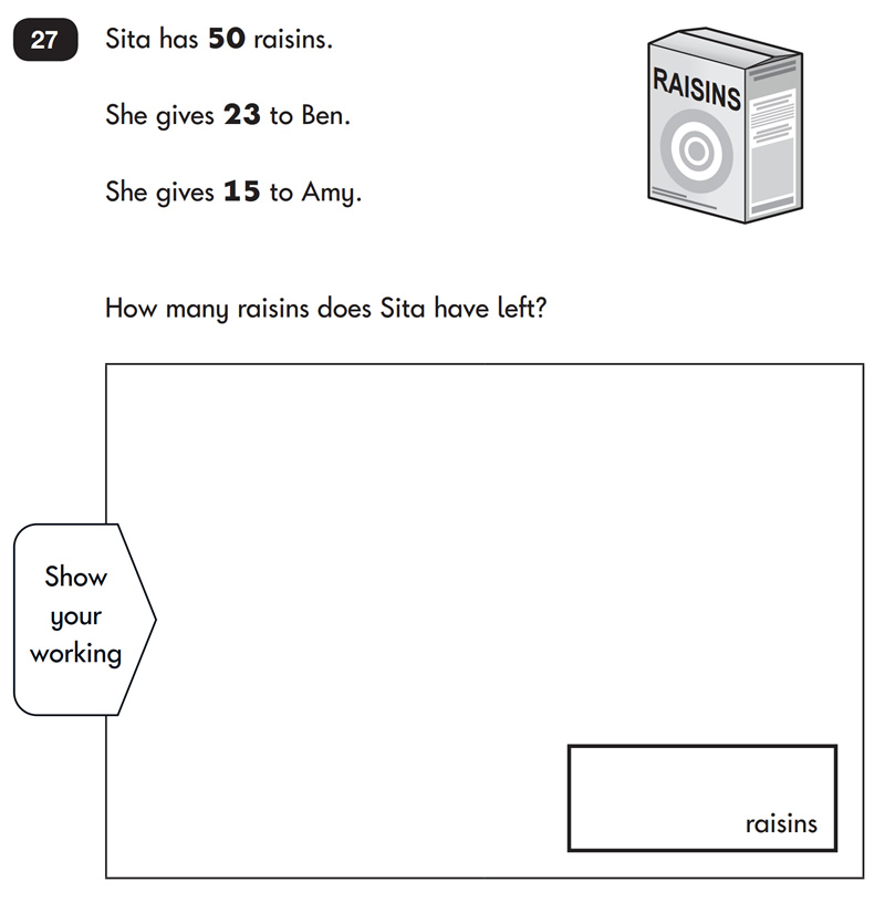 Example Sats Question For Year 2 Students Who Are 6 And 7 Years Old